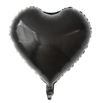Sort Hjerteballong