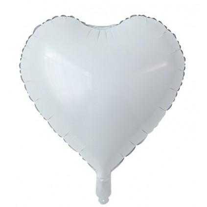 Matt Hvit Hjerteballong