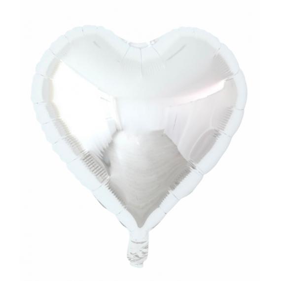 Sølv Hjerteballong