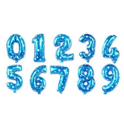 Yndig blå tallballong