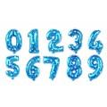 Søt blå tallballong