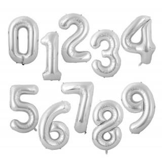 Sølv tallballonger
