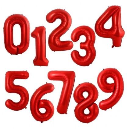Røde tallballonger