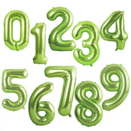 Grønne tallballonger