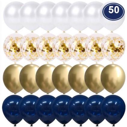 Gull og Mørkeblå 50 stk
