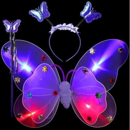 Lilla sommerfuglvinger med LED lys
