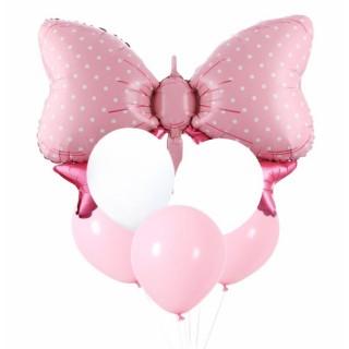 Rosa Sløyfe folieballong