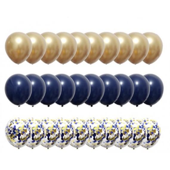 Gull og Mørkeblå 30 stk